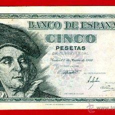 Billetes españoles: BILLETE 5 PESETAS 1948 , MBC+ , SERIE J , ORIGINAL , T753. Lote 42633623