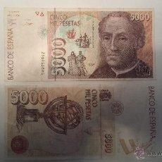 Billetes españoles: BILLETE 5000 PTS. 12 OCT 1992 CRISTÓBAL COLÓN. Lote 42887441