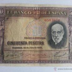 Billetes españoles: BILLETE DE 50 PESETAS 1935. Lote 42962786