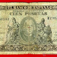 Billetes españoles: BILLETE 100 PESETAS 1940 COLON , BC+ , SERIE F , ORIGINAL , T662. Lote 43148206