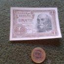 Billetes españoles: BILLETE DE 1 PESETA 22 JULIO 1953 SERIE J8425218 BUEN ESTADO MARQUES DE SANTA CRUZ. Lote 43223148