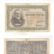 Billetes españoles: BILLETE DE 50 PESETAS DEL ESTADO ESPAÑOL (FRANCO) DE 1940 DE MADRID. BC. (F127).. Lote 43327616