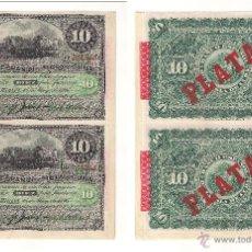 Billetes españoles: TIRA DE 4 BILLETES DE 10 PESOS DEL BANCO ESPAÑOL DE LA ISLA DE CUBA DE 1896 DE LA HABANA. SC. (115).. Lote 22281678