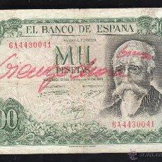 Billetes españoles: BILLETE DE 1000 PESETAS. 17 SEPTIEMBRE 1971.. Lote 44249639