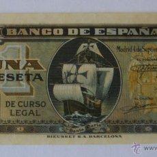 Billetes españoles: 1 PESETA DE SEPTIEMBRE DE 1940 EBC+ SERIE F. Lote 44316055
