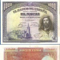 Billetes españoles: ESPAÑA-SEGUNDA REPÚBLICA-BILLETE DE1.000 PESETAS 15 DE AGOSTO DE 1928. Lote 44329495