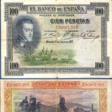 Billetes españoles: ESPAÑA-SEGUNDA REPÚBLICA--BILLETE DE 100 PESETAS 1 DE JULIO DE 1925. Lote 44329747