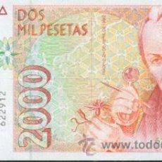 Billetes españoles: ESPAÑA-BILLETE DE 2000 PESETAS 24 DE ABRIL DE 1992--PLANCHA Y SIN SERIE. Lote 44329920
