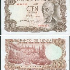 Billetes españoles: ESPAÑA-BILLETE DE 100 PESETAS 17 DE NOVIEMBRE DE 1970--PLANCHA Y SIN SERIE. Lote 44329937