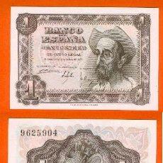 Billetes españoles: ESPAÑA-BILLETE DE 1 PESETA 19 DE NOVIEMBRE DE 1951--PLANCHA Y SIN SERIE. Lote 44339098