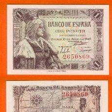 Billetes españoles: ESPAÑA-BILLETE DE 1 PESETA 15 DE JUNIO DE 1945--PLANCHA Y SIN SERIE. Lote 44339192