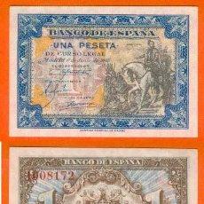 Billetes españoles: ESPAÑA-BILLETE DE 1 PESETA 1 DE JUNIO DE 1940-PLANCHA Y SIN SERIE. Lote 44339246
