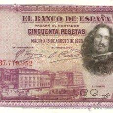Billetes españoles: BILLETE DE 50 PESETAS AÑO 1928. Lote 44339588