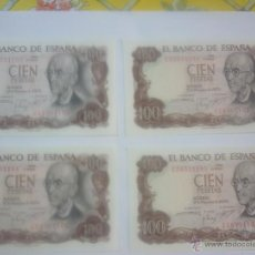 Billetes españoles: CUATRO BILLETES CORRELATIVOS, SIN CURCULAR.. Lote 44909391