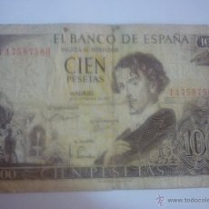Billetes españoles: BILLETE DE 100 PESETAS DE ADOLFO BECQUER. Lote 44909442