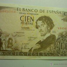 Billetes españoles: BILLETE 100 PTAS.BCO.ESPAÑA- SERIE A -19-11-65 BECQUER. Lote 44925592