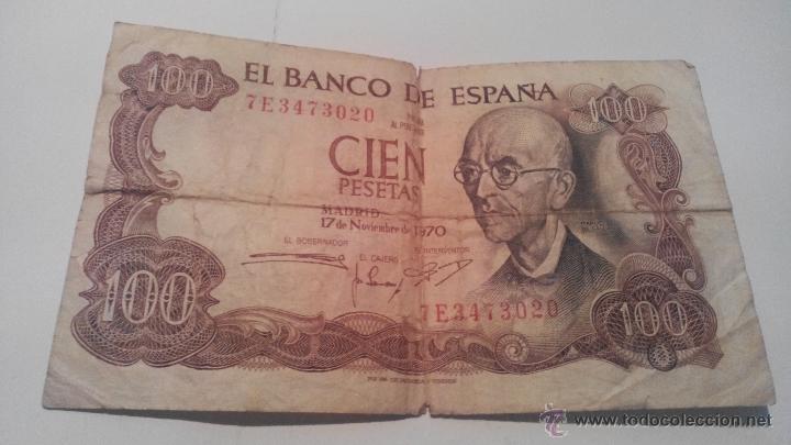 BILLETE CIEN PESETAS 1970 MANUEL DE FALLA (Numismática - Notafilia - Billetes Españoles)