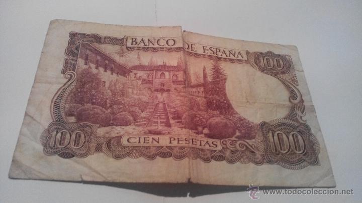 Billetes españoles: Billete cien pesetas 1970 Manuel de Falla - Foto 2 - 45058740