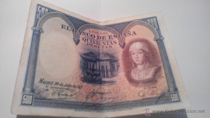 BILLETE 500 PESETAS 1927 (Numismática - Notafilia - Billetes Españoles)