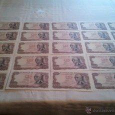 Billetes españoles: (EXTRAORDINARIO) LOTE DE 23 BILLETES CORRELATIVOS PLANCHA DE 100 PESETAS DE MANUEL DE FALLA. Lote 45314681