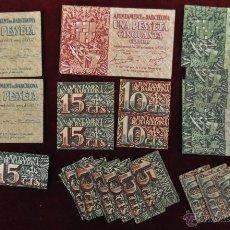 Billetes españoles: LOTE DE 26 BILLETES DEL AYUNTAMIENTO DE BARCELONA. Lote 45488545