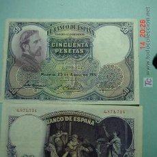 Billetes españoles: 799 ROSALES PINTOR BILLETE 50 PESETAS AÑO 1931 MUY BONITO COSAS&CURIOSAS. Lote 5762640