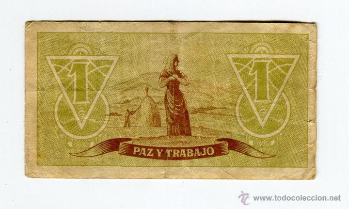 Billetes españoles: CONSEJO DE ASTURIAS Y LEON UNA PESETA SIN SERIE SE ENVIA EL BILLETE DE LAS IMAGENES - Foto 2 - 45537290
