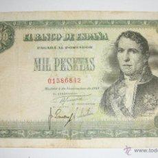 Billetes españoles: 1000 PESETAS. 1949. SIN SERIE.. Lote 45820180
