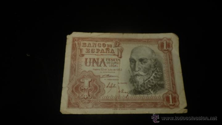 BILLETE UNA PESETA (Numismática - Notafilia - Billetes Españoles)