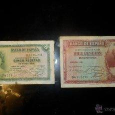 Billetes españoles: LOTE DE BILLETES DE PESETAS. Lote 45858498