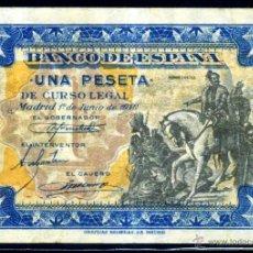 Billetes españoles: 1 PESETA JUNIO 1940 EBC -. Lote 45922093