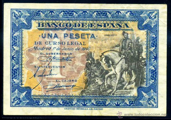 1 PESETA JUNIO 1940 EBC (Numismática - Notafilia - Billetes Españoles)