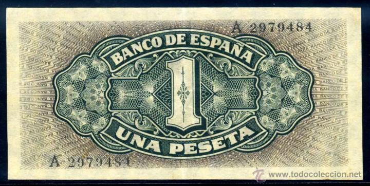 Billetes españoles: 1 PESETA SEPTIEMBRE 1940 EBC - Foto 2 - 45923176