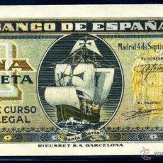 Billetes españoles: 1 PESETA SEPTIEMBRE 1940 EBC +. Lote 45923228