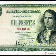 Billetes españoles: 1000 PESETAS NOVIEMBRE 1949 EBC. Lote 46370592