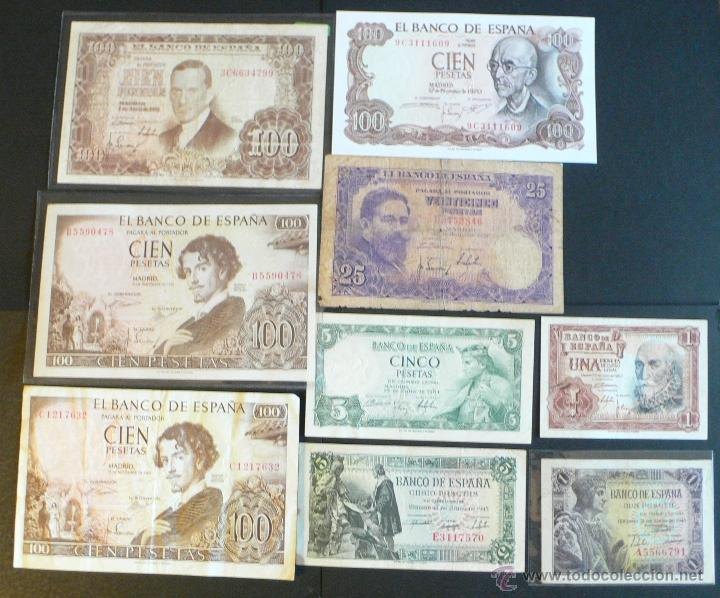 9 BILLETES ESPAÑOLES (Numismática - Notafilia - Billetes Españoles)