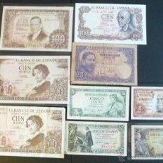 Billetes españoles: 9 BILLETES ESPAÑOLES. Lote 46500709