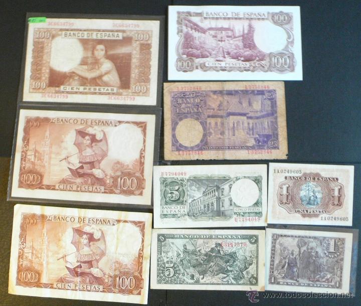 Billetes españoles: 9 billetes españoles - Foto 2 - 46500709