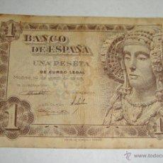 Billetes españoles: 1 PESETA. 1943. SERIE F.. Lote 46554697