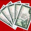 Billetes españoles: LOTE DE 5 BILLETES DE 1000 PESETAS 1965 , MBC+ , SERIE Y , CORRELATIVOS , ORIGINALES , T511. Lote 47110073