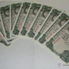 Billetes españoles: 1000 PESETAS. 1971. 10 BILLETES CORRELATIVOS. PLANCHA.. Lote 47230691