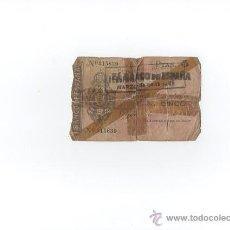 Billetes españoles: BILLETE 5 PESETAS BANCO DE ESPAÑA GIJÓN 1936. Lote 47320479