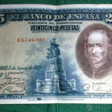 Billetes españoles: BILLETE 25 PESETAS DE 1928 - SERIE C. Lote 47396799