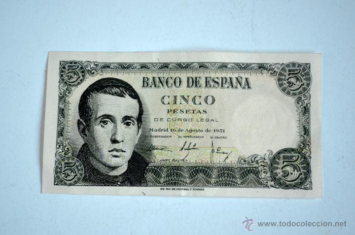 PEDIDO MINIMO 3 LOTES DISTINTOS BILLETE 5 PESETAS 1951 SIN CIRCULAR (Numismática - Notafilia - Billetes Españoles)
