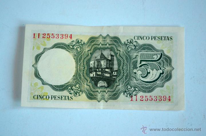 Billetes españoles: Pedido minimo 3 lotes distintos BILLETE 5 PESETAS 1951 SIN CIRCULAR - Foto 2 - 47598273