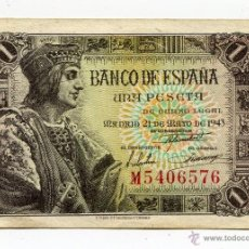 Billetes españoles: BILLETE DE 1 PESETA MAYO 1943 SERIE M. Lote 48133943