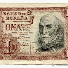 Billetes españoles: BILLETE 1 PESETA JULIO 1953 SERIE M. Lote 48136061