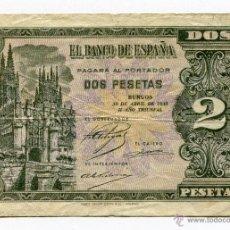 Billetes españoles: BILLETE 2 PESETAS ABRIL 1938 SERIE L. Lote 48136678