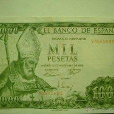 Billetes españoles: BILLETE DE MIL 1000 PESETAS SAN ISIDORO 1965. Lote 48389138