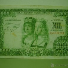 Billetes españoles: BILLETE DE MIL 1000 PESETAS REYES CATOLICOS 1957. Lote 48389297